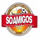 Placa Decorativa 25x25cm só Amigos Futebol Clube Lpqc-049 - Litocart