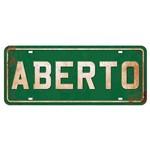 Placa Decorativa Aberto 14,6x35cm Dhpm2-037 - Litoarte
