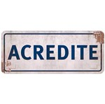 Placa Decorativa Acredite 14,6x35cm Dhpm2-026 - Litoarte