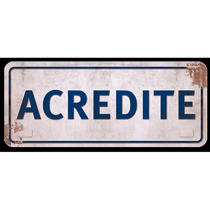 Placa Decorativa Acredite 35x14,6cm