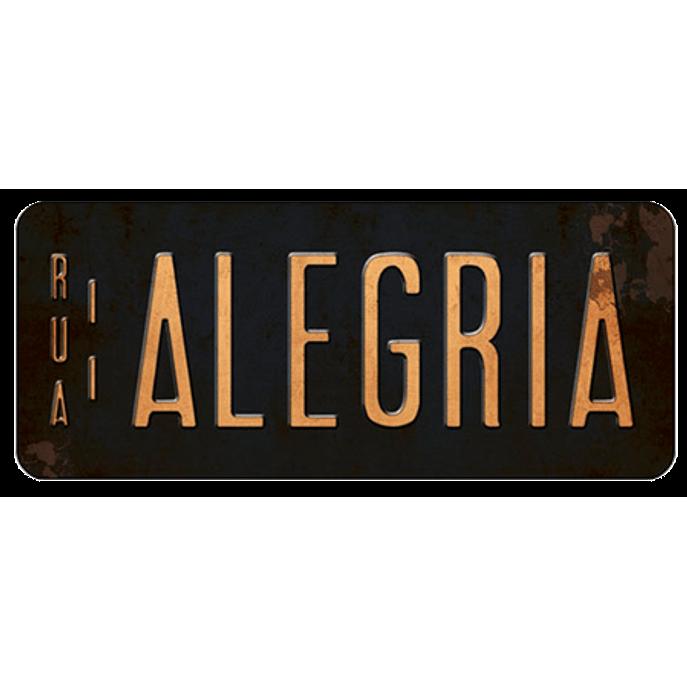 Placa Decorativa Alegria 35x14,6cm