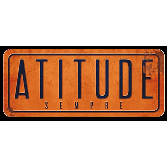 Placa Decorativa Atitude 35x14,6cm