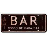 Placa Decorativa Bar Nosso de Cada Dia 35x14,6cm DHPM2-044 - Litoarte