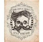 Placa Decorativa Barbearia Hair Cuts 24x19cm Dhpm-164 - Litoarte