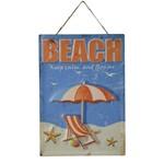 Placa Decorativa Beach Sun Colorido