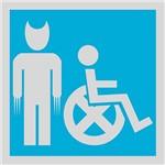 Placa Decorativa: Cadeira X