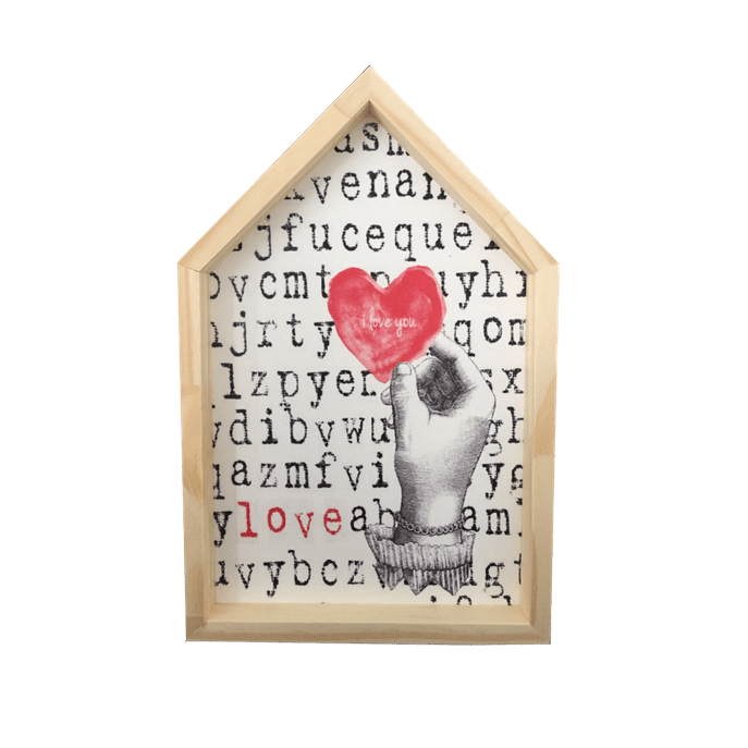 Placa Decorativa Casinha Alfabeto MDF