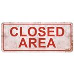 Placa Decorativa Closed Area 14,6x35cm Dhpm2-023 - Litoarte