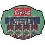 Placa Decorativa Coca-Cola 93025425 MDF Four Bottles Colorido - Urban
