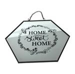 Placa Decorativa com Alça Home Sweet Home Urban
