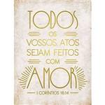 Placa Decorativa com Amor 23x16,8cm Dhpmh-005 - Litoarte
