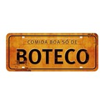 Placa Decorativa Comida Boa só de Boteco 14,6x35cm DHPM2-041 - Litoarte