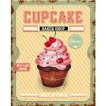 Placa Decorativa Cupcake 24x19cm Dhpm-176- Litoarte