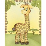 Placa Decorativa 3d Litoarte Dhpm5-203 24x19cm Girafa