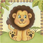 Placa Decorativa 3D Litoarte DHPM5-204 19x19cm Leão