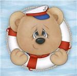 Placa Decorativa 3d Litoarte Dhpm5-208 19x19cm Urso na Boia
