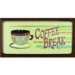 Placa Decorativa de Mdf e Decoupage Litocart 13 X 40 Cm – Modelo Lpd-52 - Coffee Break