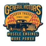 Placa Decorativa de Metal Recortada Super Trucks GM Chevrolet