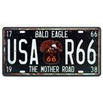 Placa Decorativa de Metal USA