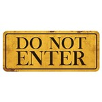Placa Decorativa do Not Enter 14,6x35cm Dhpm2-022 - Litoarte