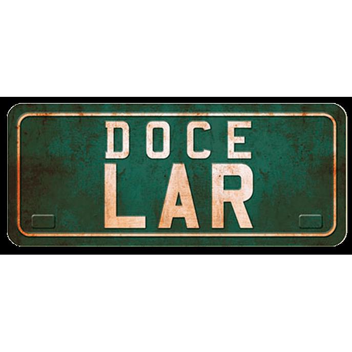 Placa Decorativa Doce Lar 35x14,6cm