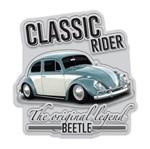 Placa Decorativa em Alumínio Classic Rider Fusca Urban