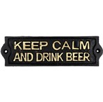 Placa Decorativa em Ferro Keep Calm Urban