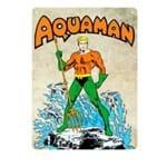 Placa Decorativa em MDF Aquaman DC Comics