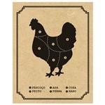 Placa Decorativa em MDF Impresso Litoarte DHPM-397 24x19cm Cortes do Frango