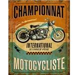 Placa Decorativa em MDF Litoarte DHPM-211 24x19cm Placa Moto Championnat