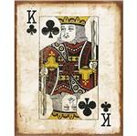 Placa Decorativa em MDF Litoarte DHPM-401 24x19cm Carta Reis de Paus