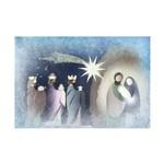 Placa Decorativa em MDF Presépio Sagrada Familia e Reis Magos 20x30cm