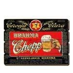Placa Decorativa em MDF Ripado Cerveja Brahma