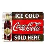 Placa Decorativa em MDF Ripado Cerveja Ice Cold