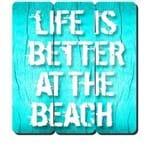 Placa Decorativa em MDF Ripado Life Is Better