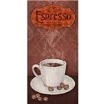Placa Decorativa Espresso Premium Coffee 40x19cm Dhpm5-169 - Litoarte
