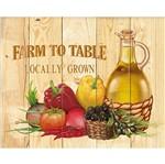 Placa Decorativa Farm To Table Locally Grown 24x19cm DHPM-154 - Litoarte