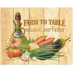 Placa Decorativa Farm To Table Organic And Fresh 24x19cm DHPM-153 - Litoarte