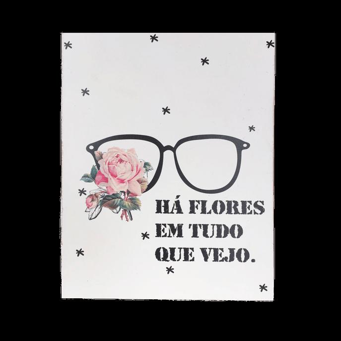 Placa Decorativa Flores MDF