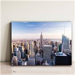 Placa Decorativa Foto New York Aereo 20x30cm