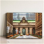 Placa Decorativa Foto New York Grand Central 30x40cm