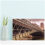 Placa Decorativa Foto Paris Ponte MDF 30x40