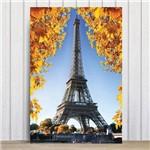 Placa Decorativa Foto Paris Torre Eiffel e Flores MDF 20x30