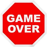 Placa Decorativa: Game Over
