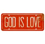 Placa Decorativa God Is Love 14,6x35cm DHPM2-051 - Litoarte