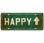 Placa Decorativa Happy 14,6x35cm Dhpm2-046 - Litoarte