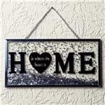 Placa Decorativa Home Prata Prata
