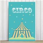 Placa Decorativa Infantil Circo Tenda MDF 20x30cm