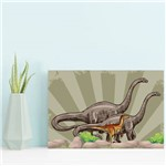 Placa Decorativa Infantil Dinossauro Jurassic Verde 30x40cm