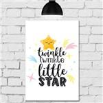 Placa Decorativa Infantil em MDF Estrela Soneca 20x30cm